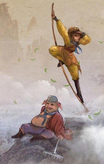 Путешествие: Царь обезьян, очень талантливый Даос (волшебник), и Пигси (человек-свинья), общеизвестный бабник, присоединяются к китайскому монаху во время его путешествия в Индию для поиска священных текстов и просвещения. (Вивиан Сон/ Великая Эпоха)