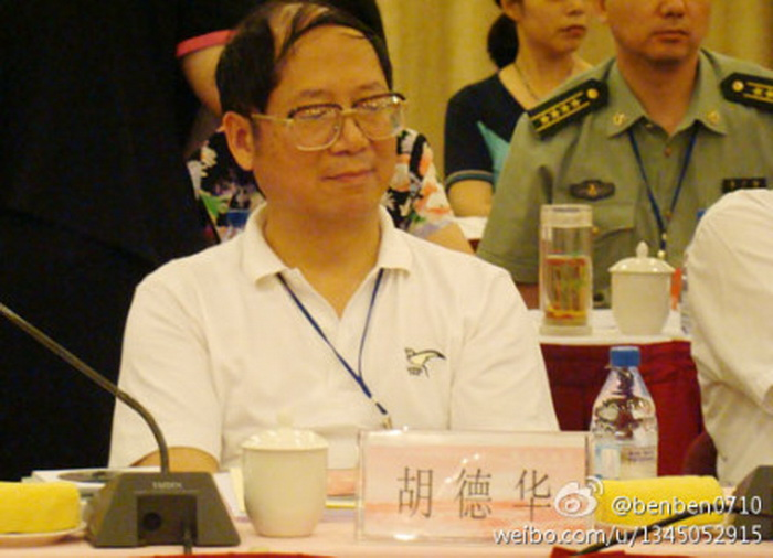 Ху Дэхуа, сын бывшего лидера коммунистической партии Китая Ху Яобана. В апреле он открыто раскритиковал нынешнего лидера компартии Си Цзиньпина за его жёсткую позицию. Фото с сайта Weibo.com