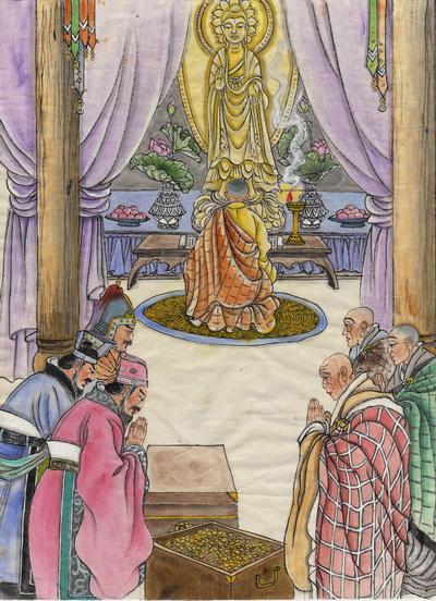 Император У династии Лян – покровитель буддизма. Иллюстрация: Джейн Ку