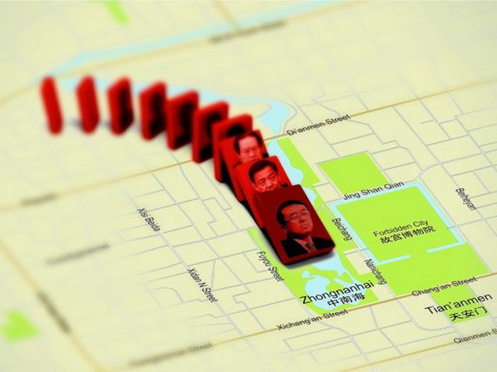 Попытка бегства бывшего начальника полиции Чунцина Ван Лицзюня в американское посольство привела в движение цепь событий, выявивших разгорающуюся внутреннюю борьбу в руководстве коммунистической партии Китая. Некогда мощному Бо Силаю предъявлены уголовные обвинения. Человек, который помогал Бо добиваться успеха, глава сил внутренней безопасности Чжоу Юнкан был лишён реальной власти. Фото с theepochtimes.com
