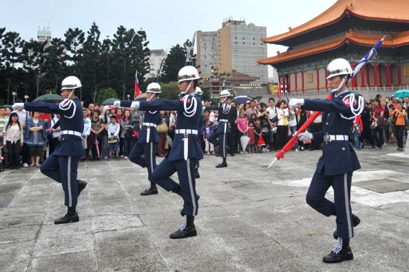 В Тайване отметили столетие Синьхайской революции. Фото:Sam Yeh / AFP / Getty Images