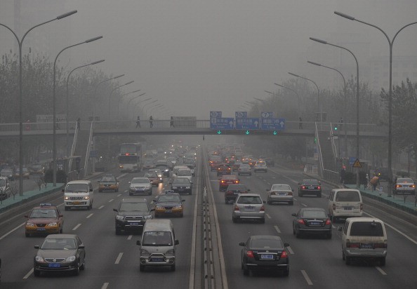 Пекин покрыт смогом.Фото: MARK Ralston/AFP/Getty Images