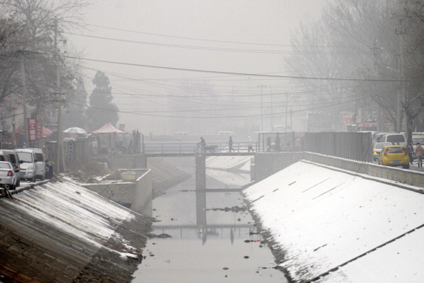 Пекин покрыт смогом.Фото: LIU Jin / AFP / Getty Images