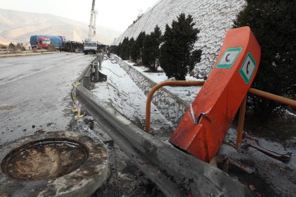 Китай: Дорожно-транспортное происшествие в Динси