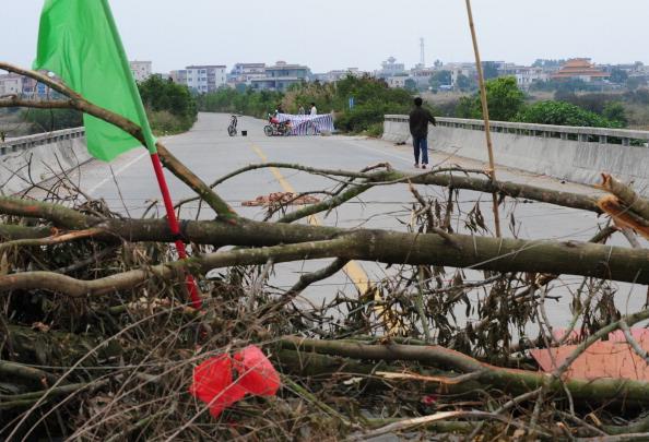 Китай:осада деревни Укан продолжается. Фото: Mark Ralston/AFP/Getty Images