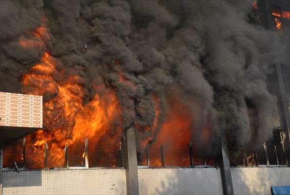 Пожар на востоке Китая. Фото:ChinaFotoPress/Getty Images