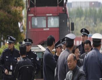 Забастовка водителей грузовых машин в Китае продолжается.Фото:kanzhongguo.com