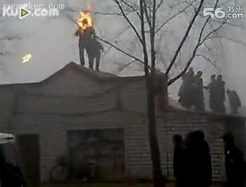 Жертвы насильственных сносов домов в Китае нередко совершают самосожжения в знак протеста. Город Мишань провинции Хэйлунцзян. Октябрь 2010 год. Фото с epochtimes.com