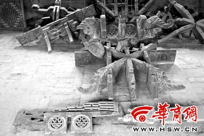 Древний храм разобрали на части. Провинция Шэньси. Фото с kanzhongguo.com
