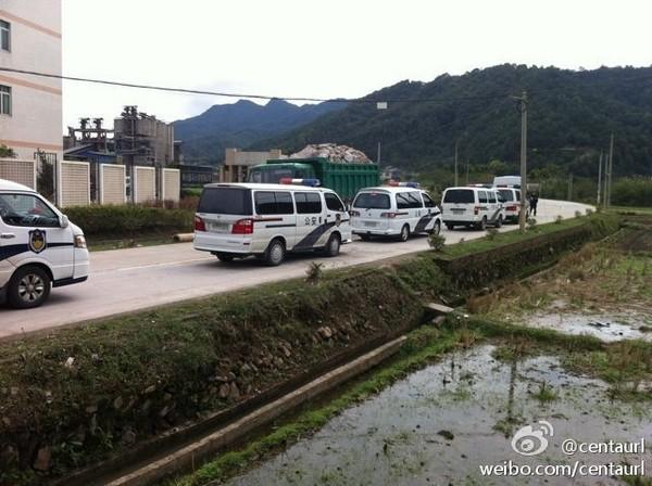 В Китае сотни крестьян вышли с протестом в защиту окружающей среды. Фото с epochtimes.com