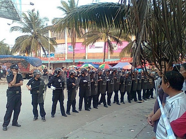 Протест крестьян. Провинция Юньнань. Март 2012 года. Фото с epochtimes.com
