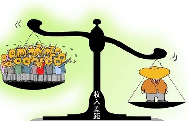 Карикатура на разницу доходов в Китае