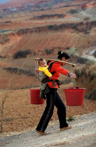 Засуха в провинции Юньнань. Февраль 2012 год. Фото: AFP