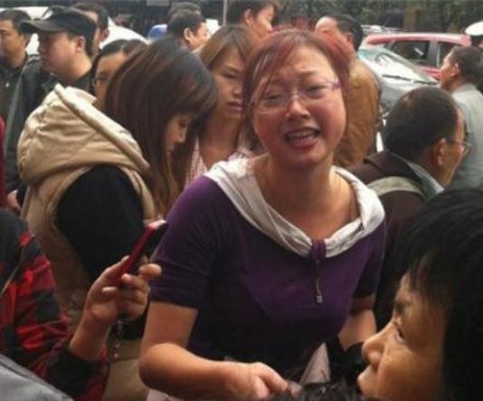 Протест студентов. Город Мяньянь провинции Сычуань. Ноябрь 2011 год. Фото с epochtimes.com