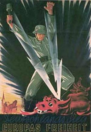 Нацисты в своей пропаганде изображали коммунистическую партию в виде красного дракона. Фото с epochtimes.com