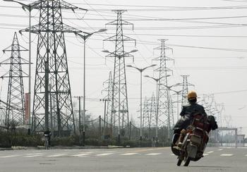 Китай испытывает нехватку электричества. Фото: LIU JIN/AFP/Getty Images