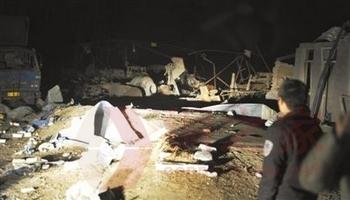 Место взрыва цеха по производству взрывчатки. Провинция Хэбэй. Февраль 2012 год. Фото с epochtimes.com