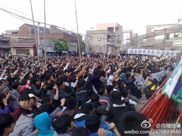 Протесты крестьян. Деревня Укань провинции Гуандун. Декабрь 2011 год. Фото с epochtimes.com