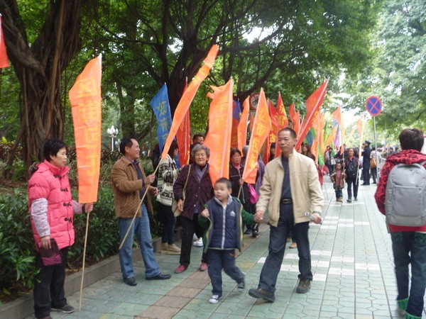 Протест крестьян. Город Гуанчжоу провинции Гуандун. Январь 2012 год. Фото с epochtimes.com