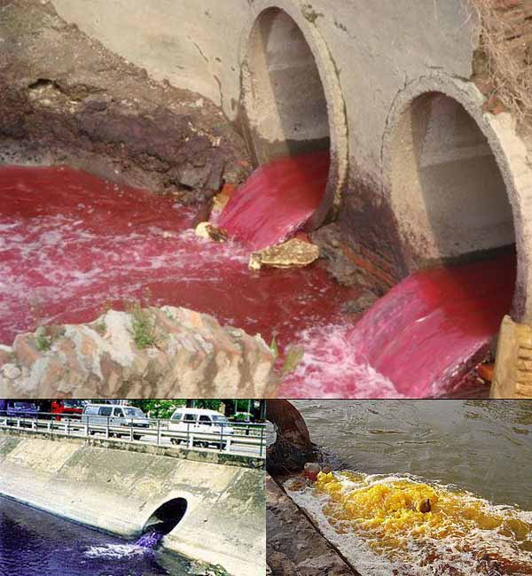 Чиновник Министерства охраны окружающей среды КНР рассказал, что видел загрязнённую воду всех семи цветов радуги. Фото с leleyiyi.com