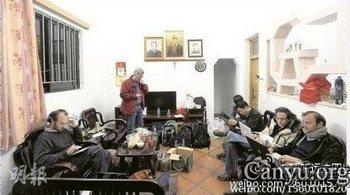 Митинг и демонстрация против коррупции и отъёма земли. Деревня Укань провинции Гуандун. 17 декабря 2011 год. Фото с canyu.org