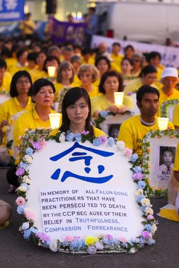 Акция памяти последователей Фалуньгун, погибших в Китае в результате преследования со стороны коммунистического режима КНР. Нью-Йорк. 2011 год. Фото: The Epoch Times