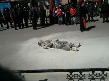 Тибетский монах Пуцонг, совершивший самосожжение 16 марта 2011 года в уезде Аба провинции Сычуань. Фото: Free Tibet