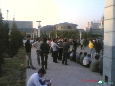 Забастовка водителей такси. Внутренняя Монголия. Сентябрь 2011 год. Фото с epochtimes.com