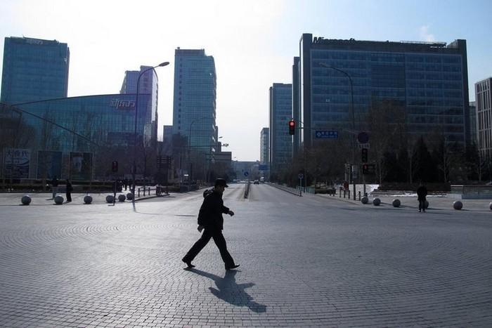Пустые улицы Пекина в дни празднования китайского Нового года. Февраль 2013 года. Фото с epochtimes.com