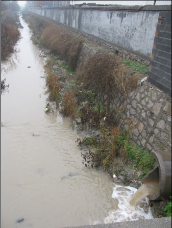 Химические заводы сливают свои отходы прямо в реку. Посёлок Цзиньлин провинции Шаньдун. Фото с epochtimes.com