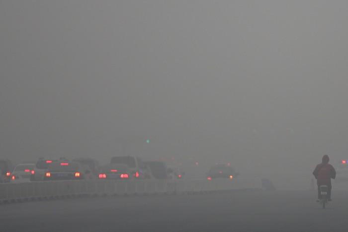 Смог в Пекине. 29 января 2013 года. Фото: Feng Li/Getty Images