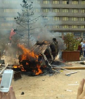 Антияпонские протесты в Китае. Сентябрь 2012 год. Фото с weibo.com