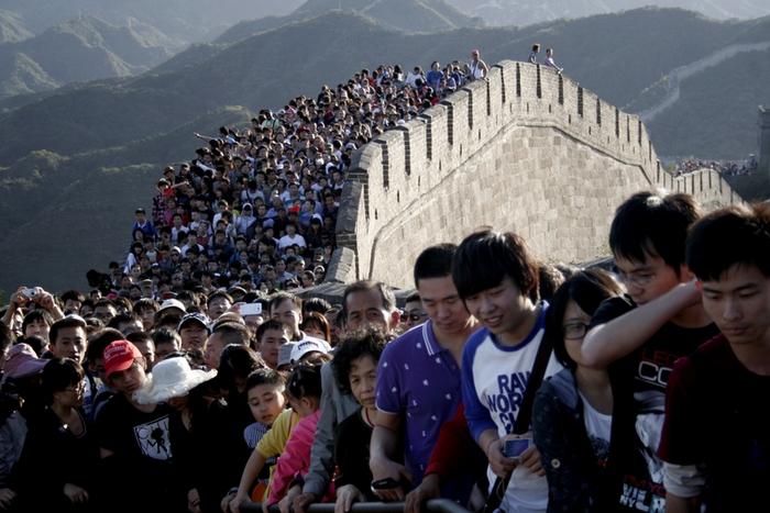 «Золотая неделя» китайского туризма. Октябрь 2012 год. Фото с epochtimes.com