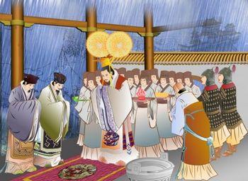 Шан Тан молился о дожде с чистым и сострадательным сердцем. Иллюстрация: Екатерина Чан/Великая Эпоха(The Epoch Times)
