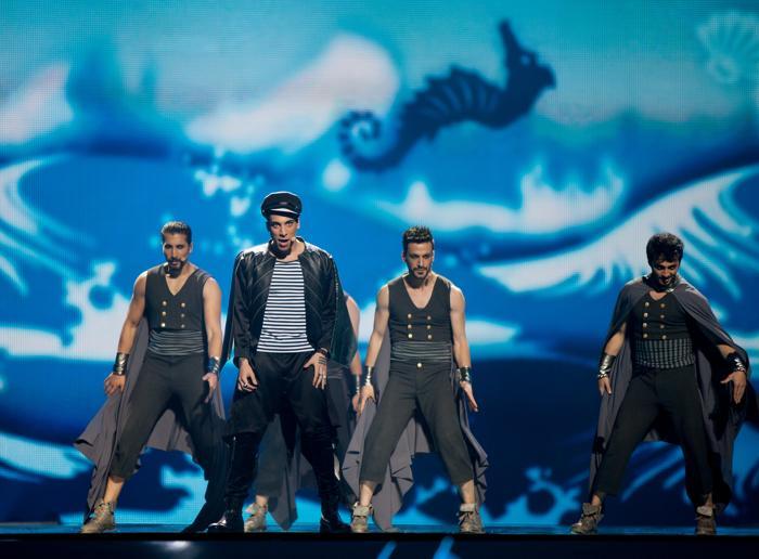 «Евровидение-2012». Фоторепортаж о выступлении финалистов конкурса.  Can Bonomo. Фото: Pablo Blazquez Dominguez/Getty Images