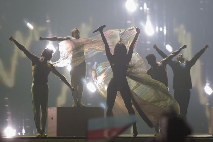 «Евровидение-2012». Фоторепортаж о выступлении финалистов конкурса.  Anggun. Фото: Pablo Blazquez Dominguez/Getty Images