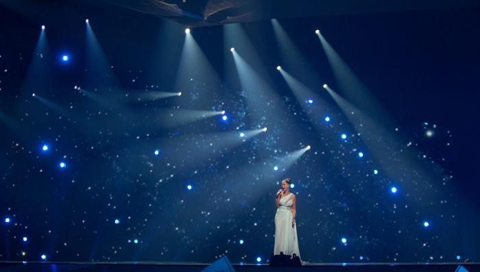 «Евровидение-2012». Фоторепортаж о выступлении финалистов конкурса.  Pastora Soler. Фото: Pablo Blazquez Dominguez/Getty Images