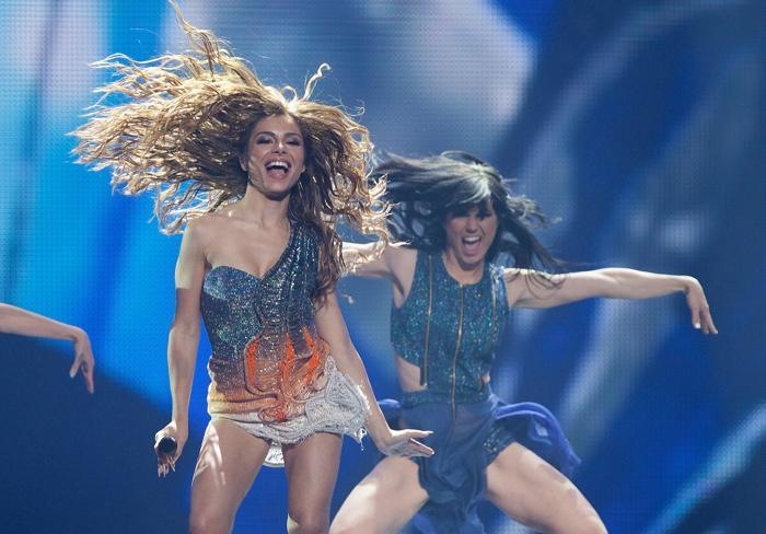 «Евровидение-2012». Фоторепортаж о выступлении финалистов конкурса. Eleftheria Eleftheriou.  Фото: Pablo Blazquez Dominguez/Getty Images