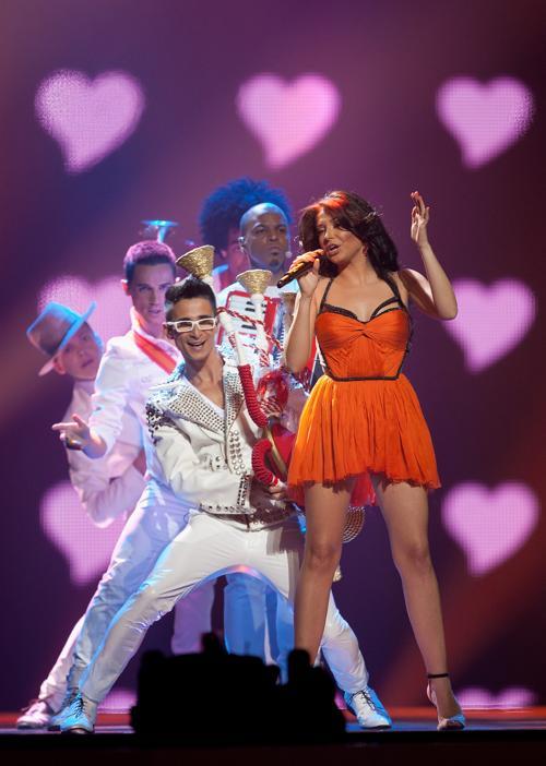 «Евровидение-2012». Фоторепортаж о выступлении финалистов конкурса. Mandinga. Фото: Pablo Blazquez Dominguez/Getty Images