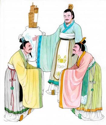 Добродетельное правление короля Вэня в царстве Чжоу. Иллюстрация: Блу СЯО/Великая Эпоха (The Epoch Times)