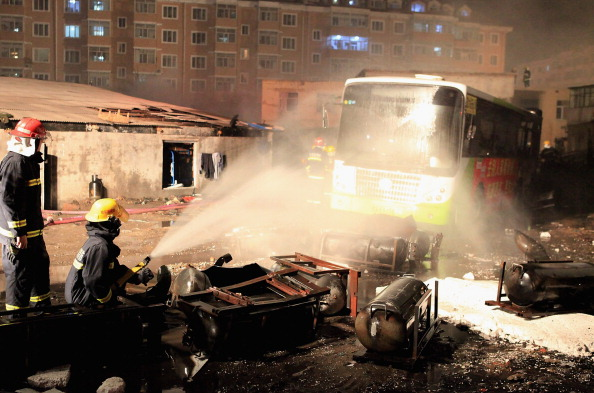 Фоторепортаж о взрыве на автобусной станции. Фото: ChinaFotoPress/Getty Images