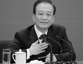 Китайский премьер Вэнь Цзябао на пресс-конференции 14 марта 2012 года в Пекине, Китай. Фото: Lintao Zhang/Getty Images