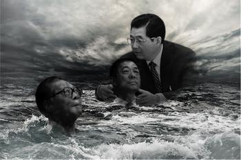 Клан Цзян Цзэминя проигрывает в борьбе с фракцией Ху Цзиньтао. На фото слева направо: Цзян Цзэминь, Бо Силай, Ху Цзиньтао. Фотоколлаж: The Epoch Times