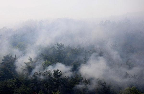 Фоторепортаж о лесных пожарах на северо-востоке Китая. Фото: ChinaFotoPress/Getty Images