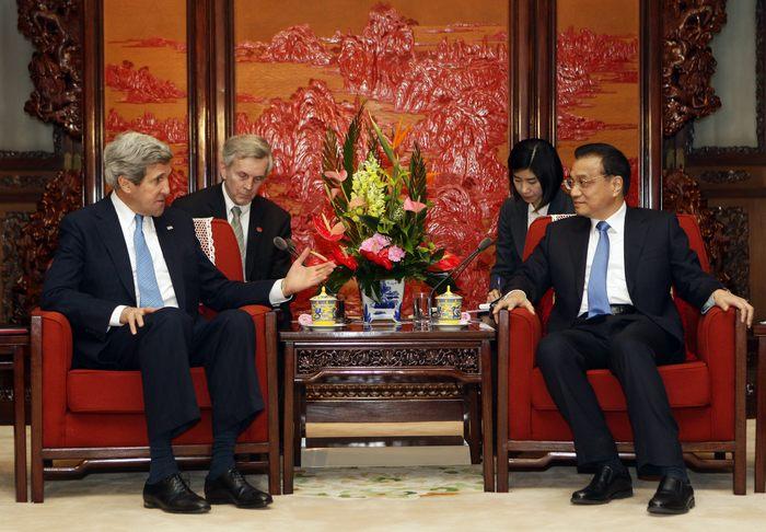 Министр иностранных дел США Джон Керри в Пекине 13 апреля 2013 г. Фото: Jason Lee - Pool/Getty Images
