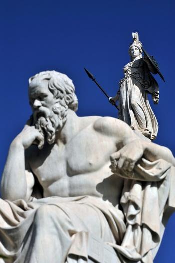 Сократ в Афинах. Фото: ARIS MESSINIS/AFP/Getty Images