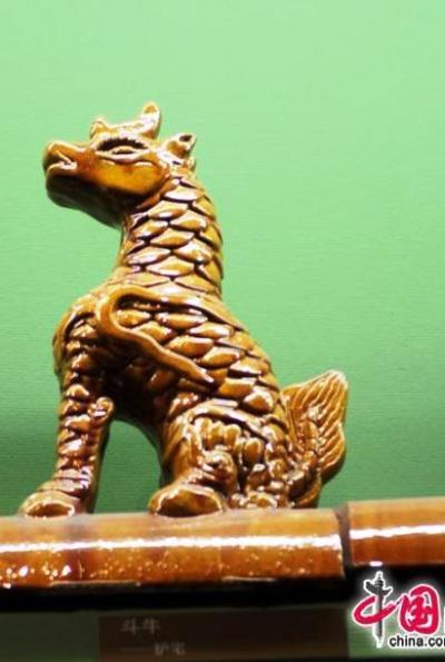 Морской бык (доню). Фигурки на крыше Зала Высшей Гармонии в Запретном городе. Фото: news.zhengjian.org