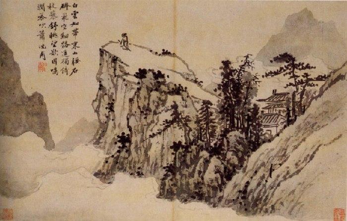 Фото: Шэн Жоу (1427-1509 г. н.э.). «Поэт на горной вершине». Фото: silkcat.ru