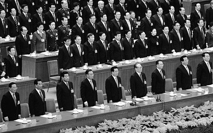 XVII съезд китайской коммунистической партии (КПК) 21 октября 2007 г. в Пекине. Высшее руководство китайской коммунистической партии воздержалось от каких-либо  заявлений о стихийном бедствии, произошедшем во время  встречи на высшем уровне.  Фото: Guang Niu/Getty Images
