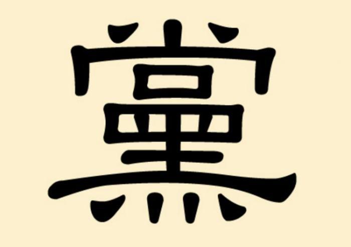 Китайский иероглиф «дан» — партия
